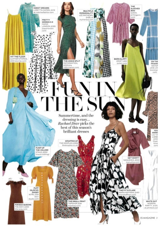 ES MAGAZINE FEATURES SS19's EMELY DRESS