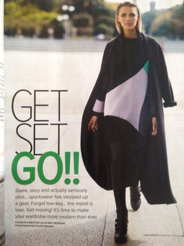PAPER London's ANDO CURVED JUMPER is featured in WOMEN AND HOME