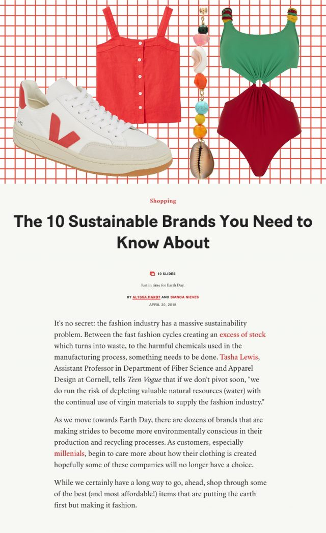 TEEN VOGUE SELECTS PAPER AS ONE OF THE TOP 10 SUSTAINABLE BRANDS TO KNOW ABOUT