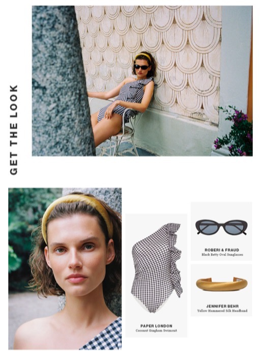 PAPER'S COCONUT SWIMSUIT IS FEATURED IN THE SHEERLUXE NEWSLETTER