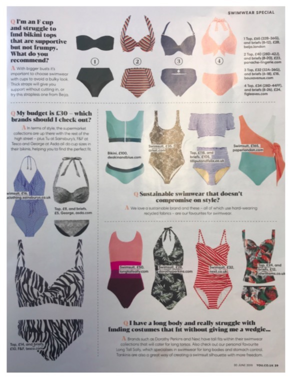 SUSTAINABLE SWIMWEAR THAT DOESN'T COMPROMISE ON STYLE – YOU MAGAZINE FEATURES THE COPACABANA SWIMSUIT