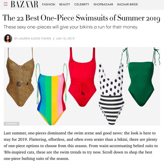 THE STRAPPY SWIMSUIT IS ONE OF HARPER'S BAZAAR'S TOP SWIMSUITS OF 2019