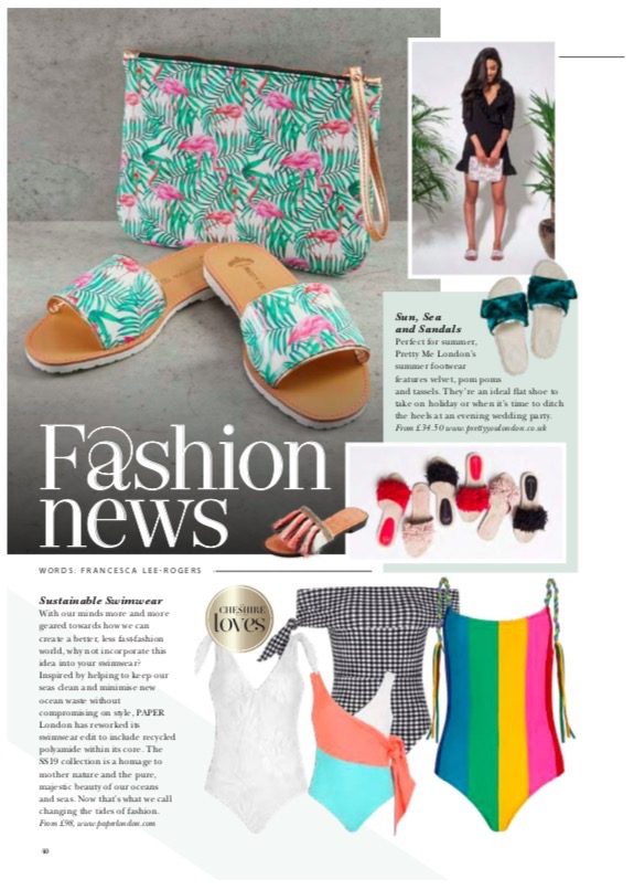THE CHESHIRE MAGAZINE FEATURES PAPER LONDON'S SUSTAINABLE SWIMWEAR