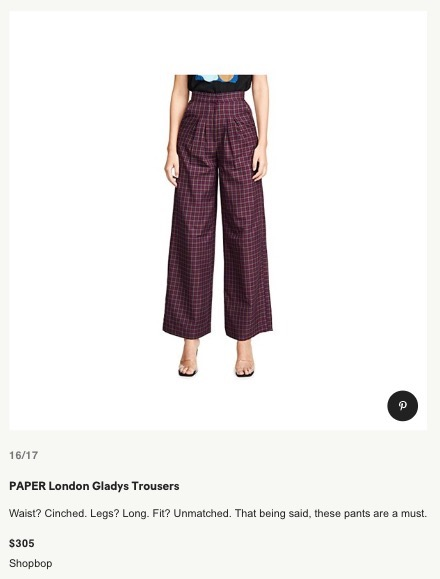 TEEN VOGUE: PAPER'S AW19 GLADYS TROUSERS ARE THE PERFECT ALTERNATIVE TO JEANS