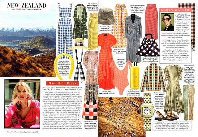 CONDÉ NAST TRAVELLER'S HOLIDAY STYLE GUIDE FEATURES PAPER'S TOP GINGHAM PIECES