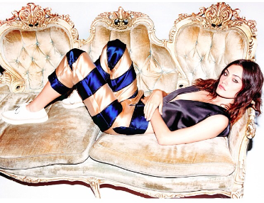 Actress Phoebe Tonkin wears AW14s Carina Trousers for Nylon Magazine
