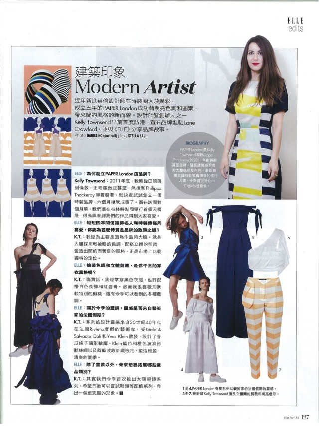 ELLE HK interviews Creative Director Kelly Townsend