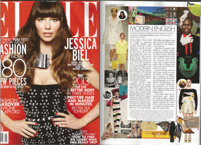 PAPER London feature in Elle USA