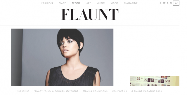 Flaunt Magazine features Actress Lucy Hale in PAPER London
