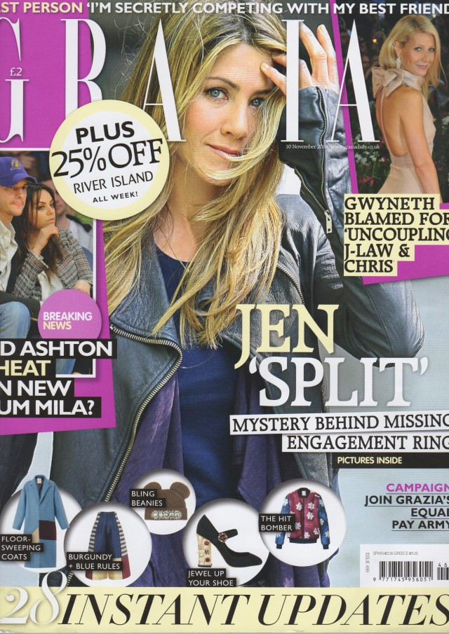 AW14s Capella Trousers are featured in this weeks Grazia