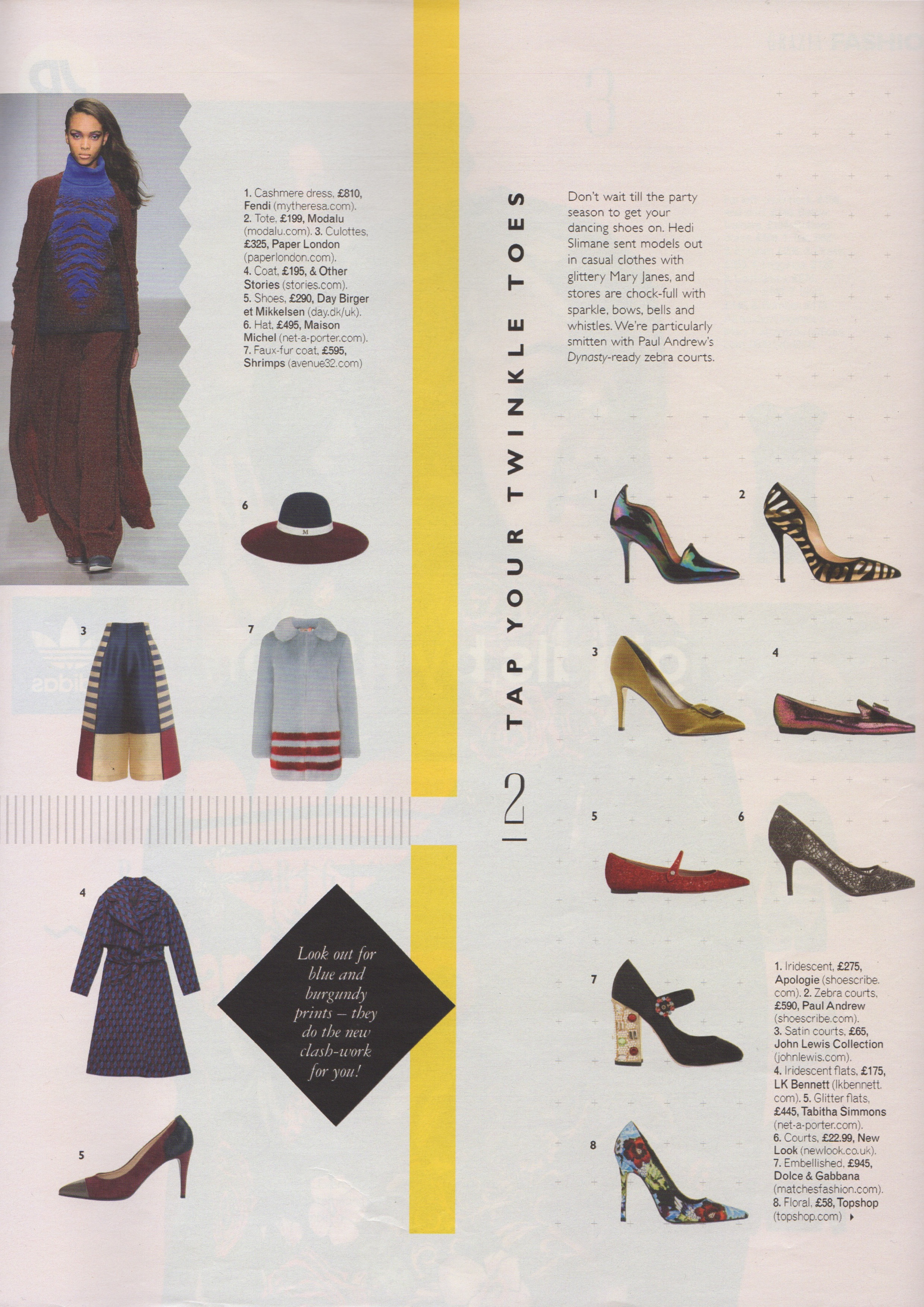 3e4f01caecf3 ... AW14s Capella Trousers are featured in this weeks Grazia
