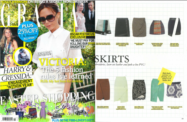 The SS13 Sherbert Skirt is featured in Grazia