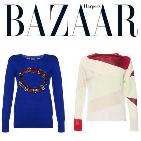 Fashion editor for Harpers Bazaar Russia, Alla Pischaeva, names the Sunrise Jumper as one of her top 5 summer knits