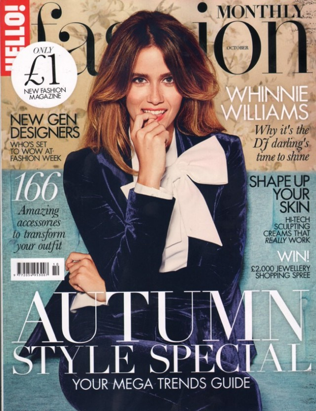 AW15's Form Coat featured in HELLO! FASHION