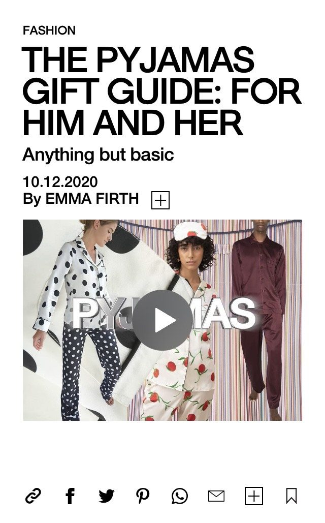 PAPER featured in BURO247 – THE PYJAMAS GIFT GUIDE: FOR HIM AND HER Anything but basic