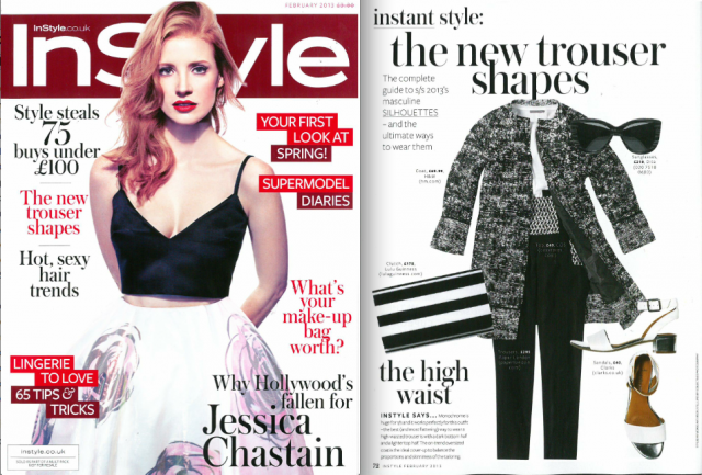 SS13 Roscoe Trousers feature in February issue of Instyle