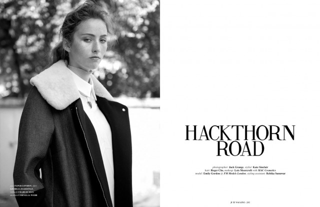 PAPER London's Ando Curved Jumper and Ara Coat are featured in October's Issue of JUTE MAGAZINE