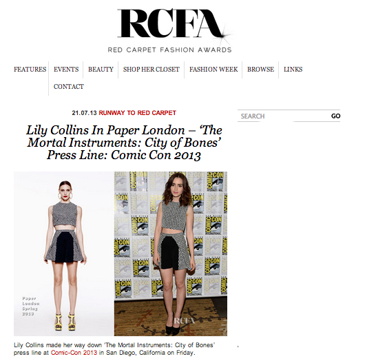 PAPER London feature on Red Carpet Fashion Awards