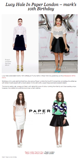 Red Carped Fashion Awards features Lucy Hale in PAPER London