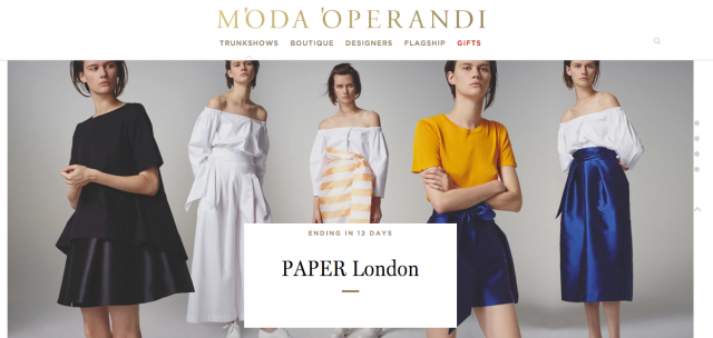 PAPER London's SS16 Trunk Show is now LIVE on MODA OPERANDI!