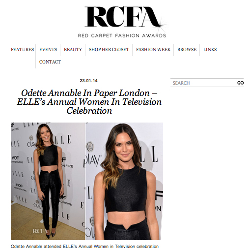 Odette Annable and PAPER London feature on RCFA