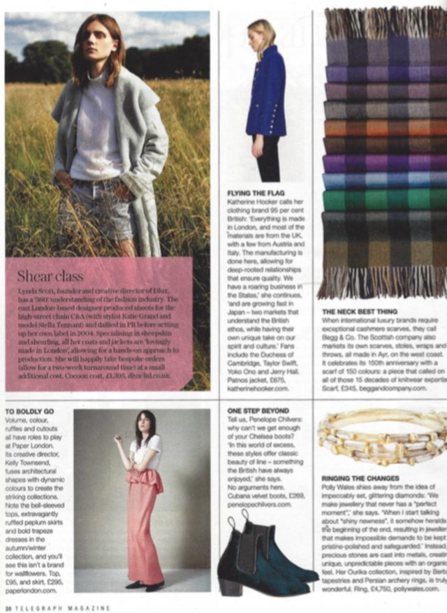 "PAPER London is featured in The Telegraph's ""Hope & Glory, 21 of the Best British Designers"""