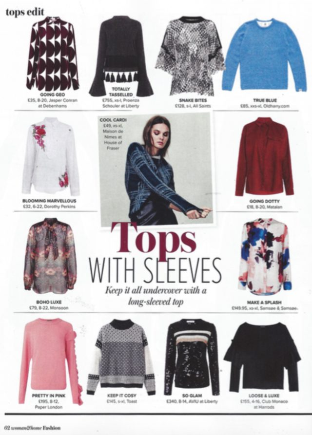 PAPER London's AW16 Pink Frill Jumper is featured in Woman & Home