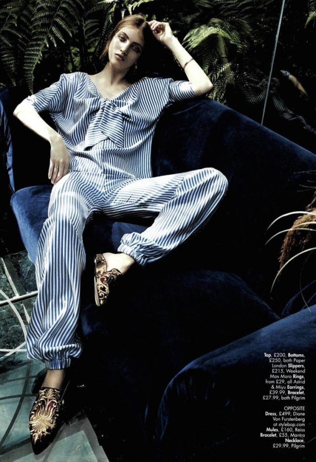 Hello! Fashion Monthly featured R17 Knot Top & Coco Trousers in the 'Zen Garden' editorial shoot