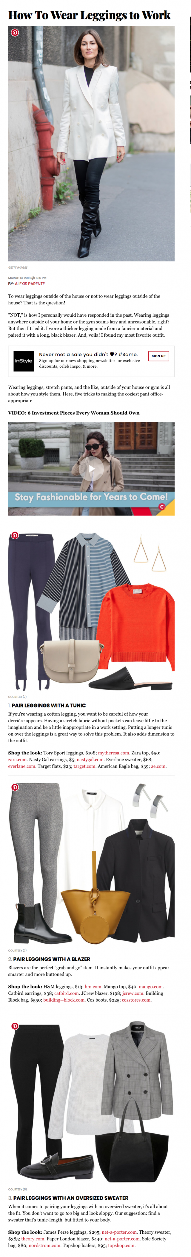 PAPER London's Leni Jacket is featured in www.inStyle.com
