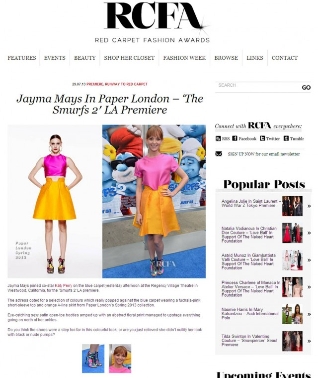 Jayma Mays wears the Paris Skirt as featured on RCFA