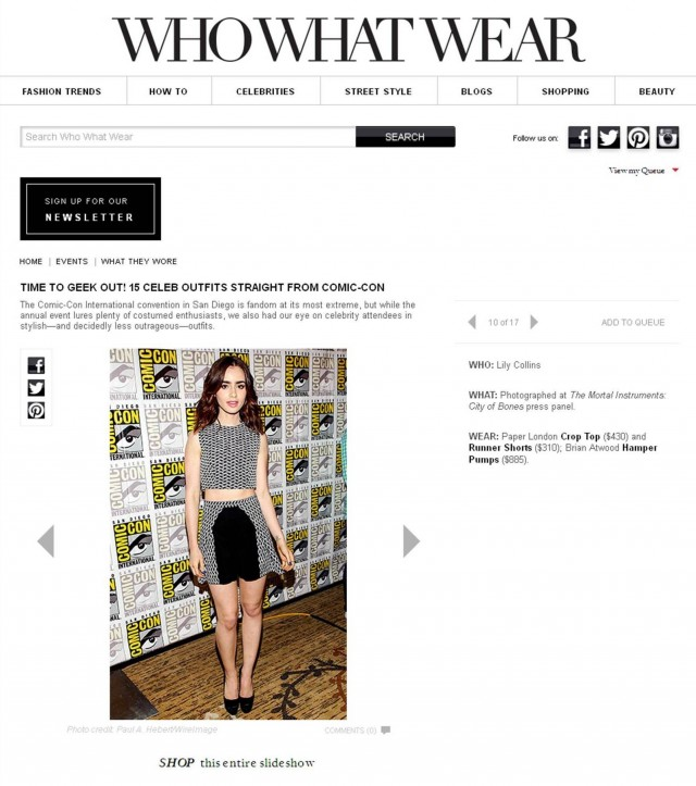 PAPER London feature in Who What Wear