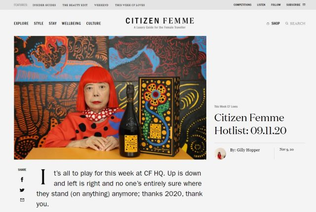 PAPER Connect The Spots Florence pyjamas featured in Citizen Femme Hotlist: 09.11.20