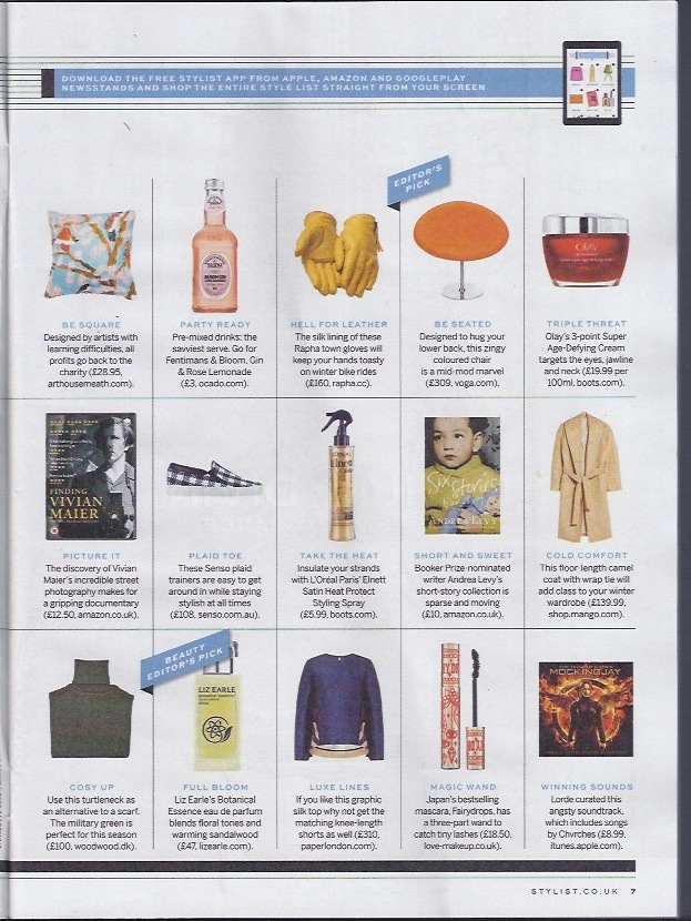 AW14s Ariel Tunic is featured in Stylist Magazine's Style List