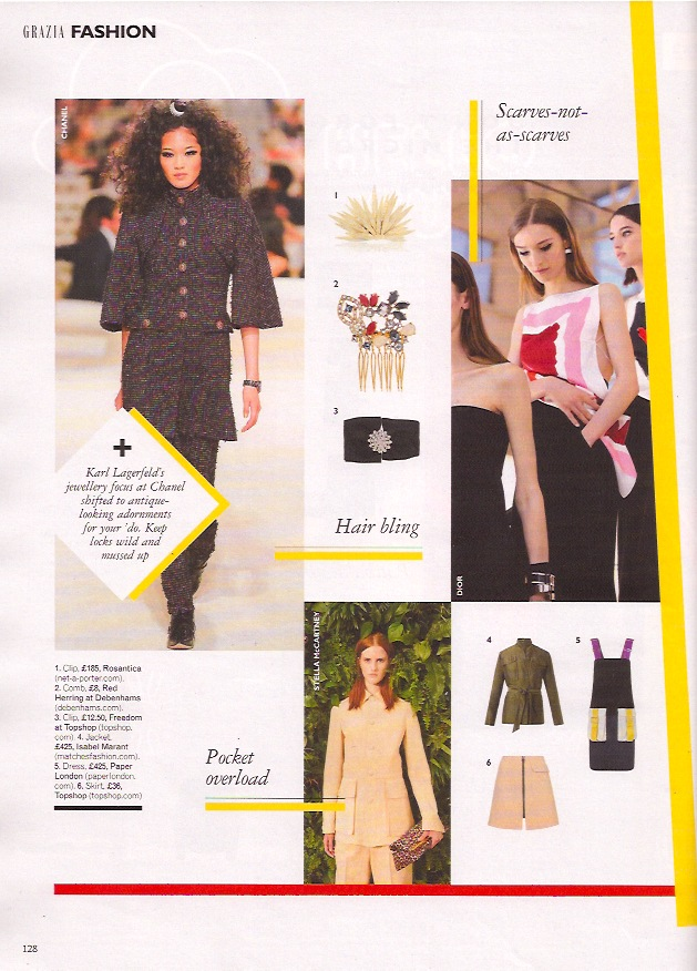AW14s Arago Dress is featured in Grazia Magazine