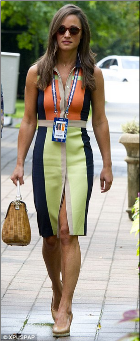 Pippa Middleton spotted wearing the Rayleigh Dress in Multi