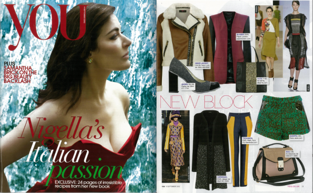 AW12 Troubadour Jacket features in YOU magazine