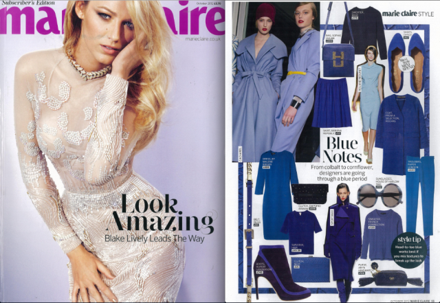 AW12 Cigarette Trousers in azure feature in October 2012 Marie Claire