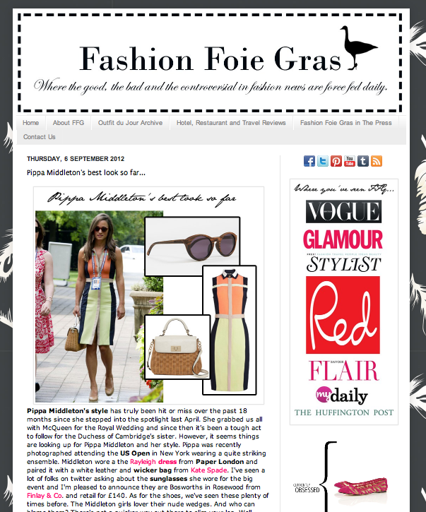 PAPER and Pippa Middleton in Fashion Blog www.fashionfoiegras.com