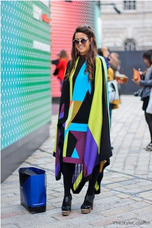 PAPER London Creative Director Kelly Townsend spotted on stylecolumn.com in head to toe Riley