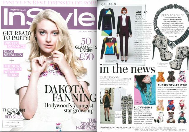 InStyle feature the Riley Jumper and Vespa Dress in their Christmas issue