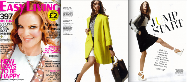 Deco Coat and V Skirt feature in March Issue of Easy Living