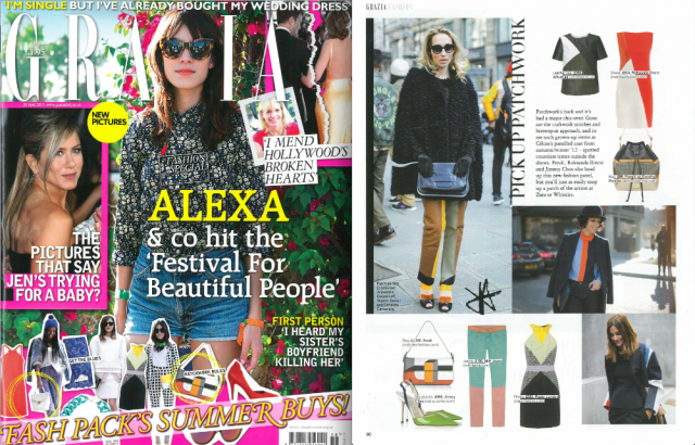 The Diamond Dress features in this weeks GRAZIA
