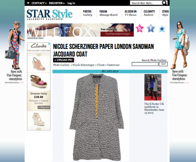 Sandman Coat in Star Style blog