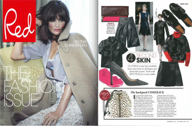 AW13 leather Ademello Culottes feature in Red Magazine