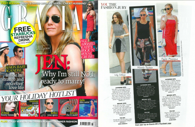 PAPER London in this weeks Grazia