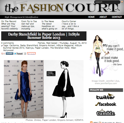 Darby Stanchfield and PAPER London feature on thefashioncourt.com
