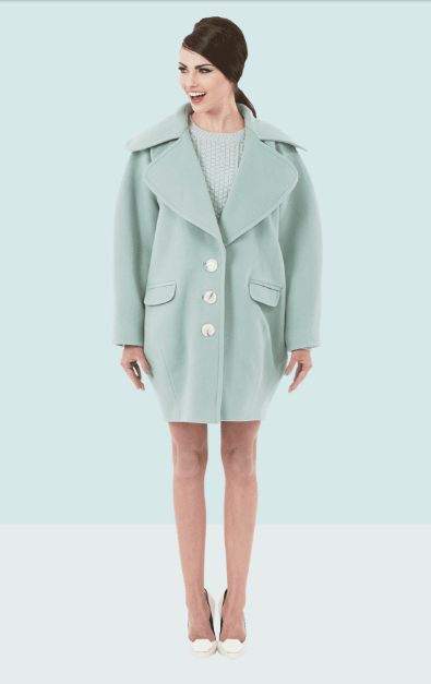 Boradine Coat in mint features on Motilo.com