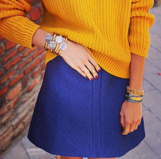 Russian Blogger Nino Eliava wearing the Arraba Skirt