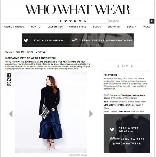 WHOWHATWEAR feature the SS14 Melodie Skirt