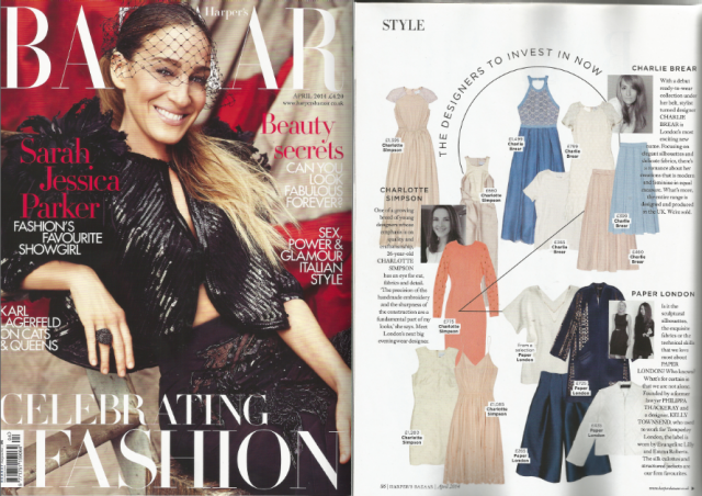PAPER London feature in Harpers Bazaar